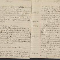 Image of Olive Burgess diary, Jan 11-21 1925