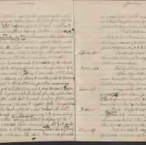 Image of Olive Burgess diary, Jan 22-29 1925