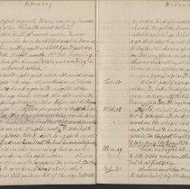 Image of Olive Burgess diary, Feb 11-20 1925