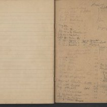 Image of Olive Burgess diary, inside back cover - Letters Received