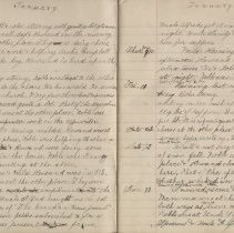 Image of Olive Burgess diary, Jan 5-13 1924