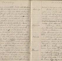 Image of Olive Burgess diary, Jan 14-22 1924