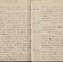 Image of Olive Burgess diary, Jan 23-29 1924