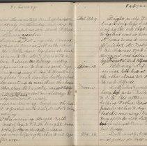 Image of Olive Burgess diary, Feb 6 - Feb 12 1924
