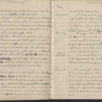 Image of Olive Burgess diary, Feb 13 - 21 1924