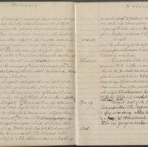Image of Olive Burgess diary, Feb 22-29 1924