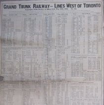 Image of A955.261.002 - Grand Trunk Railway - lines west of Toronto : passenger train service in effect from May 14, 1905