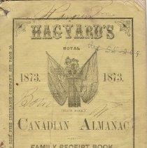 Image of Hagyard's Almanac 1873, front cover