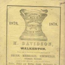 Image of Hagyard's Almanac 1873, back cover