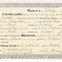 Image of Marriage certificate, William Wrightson and Margaret Lewis, 1908