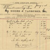 Image of A979.014.001a - The Leading House invoice, 1887