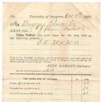 Image of Burgoyne Cheese Co. tax receipt, 1899