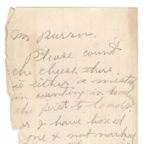 Image of Note to Mr. Pierson, ca. 1901