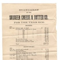 Image of Statement of the Saugeen Cheese & Butter Co., 1900
