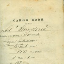 Image of Title page, Wanderer cargo and log book