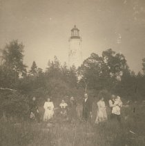 Image of People in front of Chantry Island Lighthouse