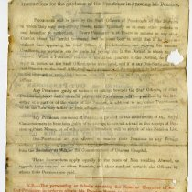 Image of Royal Hosptial pension certificate, Thomas Vance, reverse side