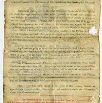 Image of Royal Hosptial pension certificate, Thomas Vance, reverse side