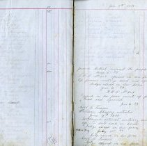 Image of Dobbinton L.O.L. minute & account book, sample pages 2-3
