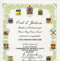 Image of A2006.211.051 Member of Parliament certificate