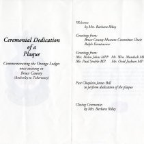 Image of A2006.211.051-.053 - Plaque unveiling programme and certificates