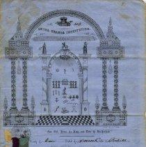 Image of John Saunders, Loyal Orange Lodge certificate