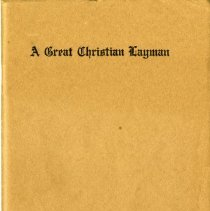 Image of Front cover, A Great Christian Layman