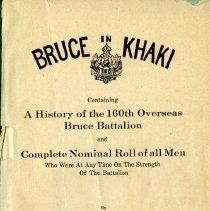 Image of Title Page, Bruce In Khaki book