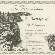 Image of AT2016.009.045 - In appreciation to Township of St. Edmunds