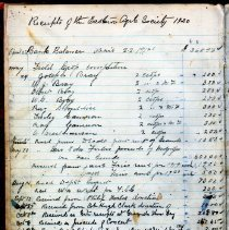 Image of Eastnor Agricultural Society cashbook sample, page A