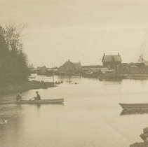 Image of On Big River, Stokes Bay, postcard front