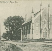 Image of Methodist Church, Tara, Ont., postcard front