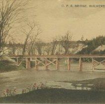 Image of C.P.R. Bridge, Walkerton, Ont., post card front