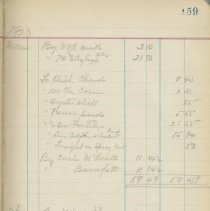 Image of Page 159, Sample of John Mcbeath Account Book