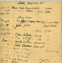 Image of A2012.087.013 - Elizabeth Oliver Burgess diary, 1915-1917