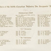 Image of Page 2, 160th Sergeants' Mess New Years card