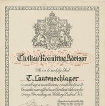 Image of A985.032.008 - Civilian recruiting advisor : E. Lautenschlager
