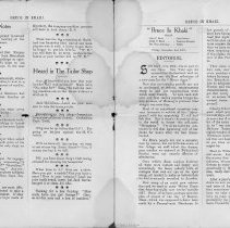 Image of Bruce in Khaki, Vol. 1, No. 1, Nov. 2, 1917, pages 50-51