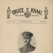 Image of Bruce In Khaki, Vol. 1, No. 7, Jan. 1918, title page