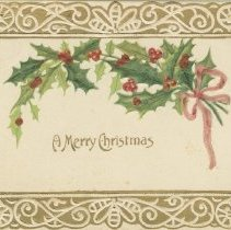 Image of Ax978.010.004  A Merry Christmas, postcard front