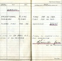 Image of Lincoln Doll Flying Log Book 1943-1945, sample pages 46- 47