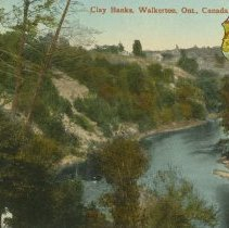 Image of Clay Banks, Walkerton, Ont., Canada, post card front