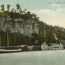 Image of Lower Docks, Wiarton, Ont., post card front