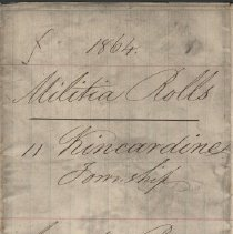 Image of A987.032.004 - Militia roll for the Counties of Huron and Bruce : Kincardine Township, County of Bruce, 1864