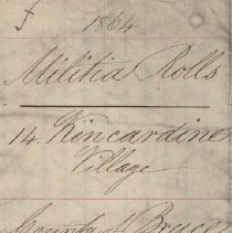 Image of A987.032.005 - Militia roll for the Counties of Huron and Bruce : Kincardine Village, County of Bruce, 1864