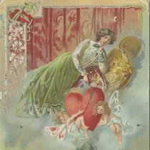 Image of A966.010.045l To my Valentine, postcard back