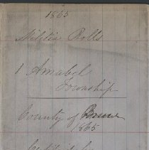 Image of A987.032.007 - Militia roll for the Counties of Huron and Bruce : Amabel Township, County of Bruce, 1865