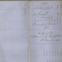 Image of A987.032.009 - Militia roll for the Counties of Huron and Bruce : Brant Township, County of Bruce, 1865