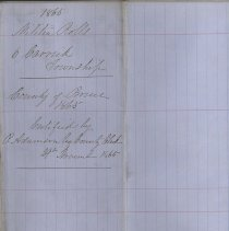 Image of A987.032.011 - Militia roll for the Counties of Huron and Bruce : Carrick Township, County of Bruce, 1865