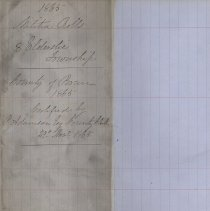 Image of A987.032.013 - Militia roll for the Counties of Huron and Bruce : Elderslie Township, County of Bruce, 1865